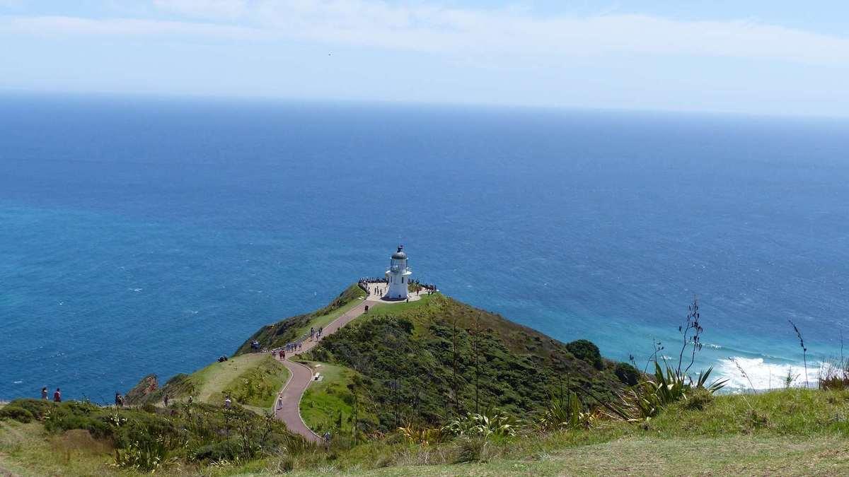 Leuchtturm am Cape Reinga, Neuseeland