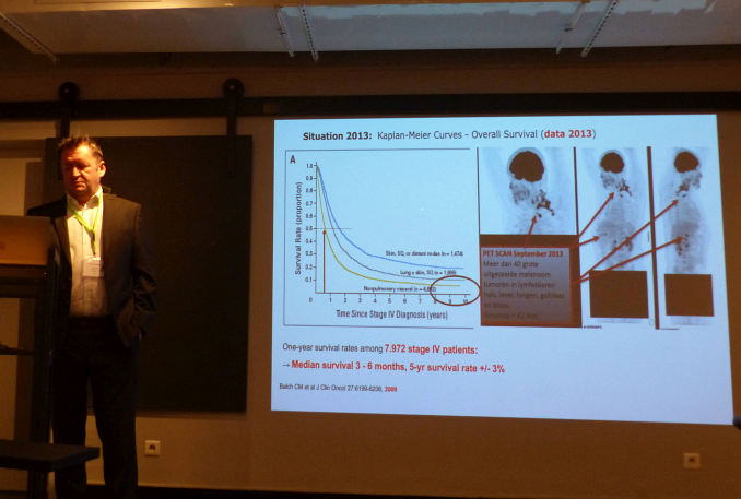 Luc Vautmans präsentiert seinen Vortrag
