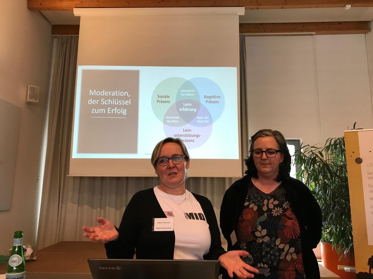 Katharina Kaminski und Astrid Doppler vom Melanom Info Deutschland
